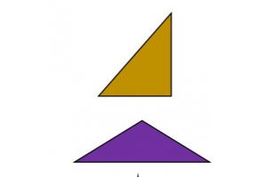 two colored triangles