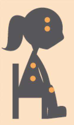 Meisje op stoel