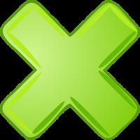 groen vermenigvuldigingsteken