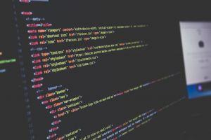 scherm met computercode