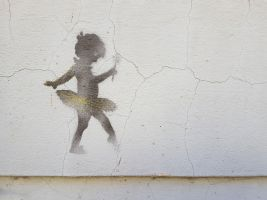 an image of a ballerina on a wall: street art