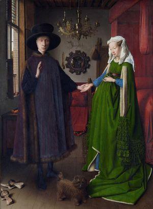 Schilderij Portret van Giovanni Arnolfini en zijn vrouw