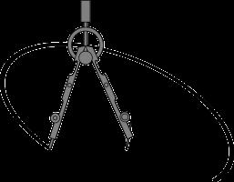 cirkel tekenen met een passer