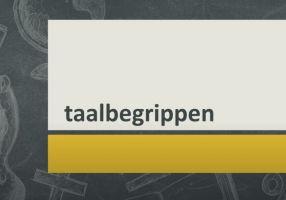 titelpagina video : taalbegrippen
