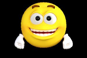 lachende emoticon