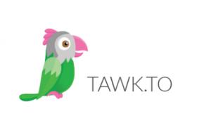 Logo tawk.to - tekening van papegaai