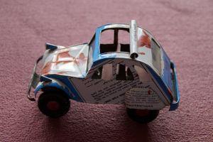 een zelfgemaakte auto