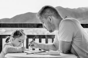Papa en dochtertje