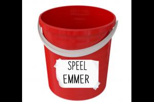 rode emmer met woordje 'speelemmer'