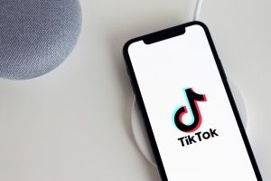 smartphone with TikTok logo on screen