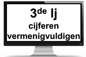 scherm - cijferen x