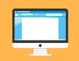 afbeelding van computerscherm met tekstverwerker