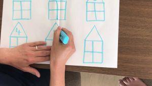 Screenshot video met enkele rekenhuisjes