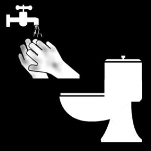 picto handen wassen na WC
