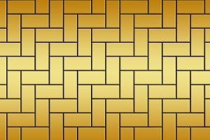 gele rechthoeken door elkaar
