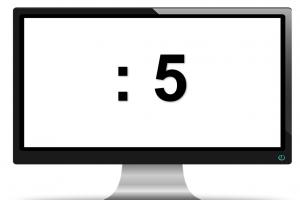 scherm met :5