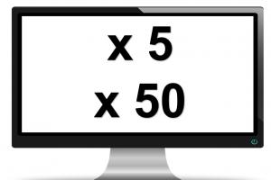 scherm met x5 / 50