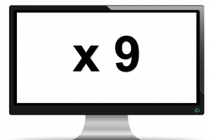scherm met x9