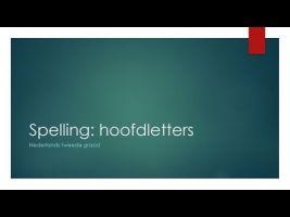 Screenshot van de video met de woorden Spelling: hoofdletters