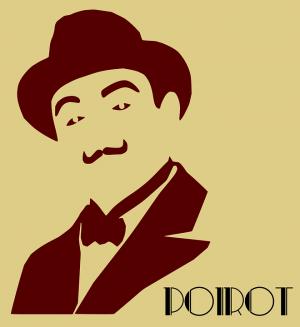 gestyleerde tekening van Herule Poirot