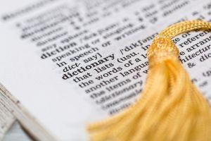 detail van een woordenboek