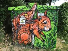 grafitti van een eekhoorn