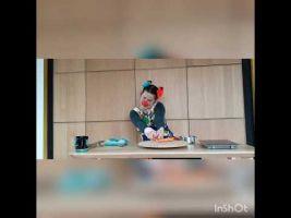 Screenshot video met clown Kadee