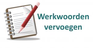 notitieblok met Werkwoorden vervoegen