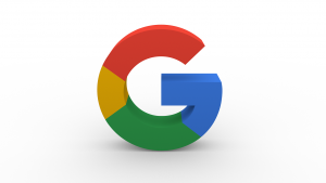 De letter G in de typische Google-kleuren.