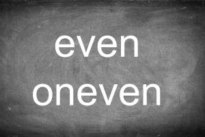 bord met even / oneven