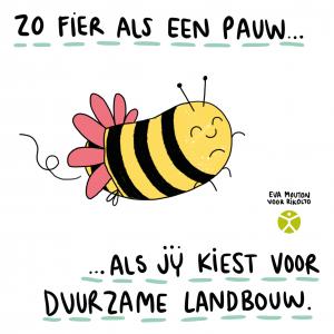 Cartoon duurzame landbouw
