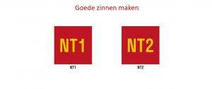 Goede zinnen maken NT1 en NT2