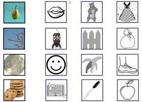 Deel uit de werkbundel met afbeelding van rijmwoorden