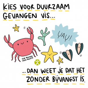 Cartoon duurzame visvangst
