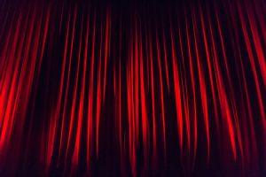 rood theaterdoek