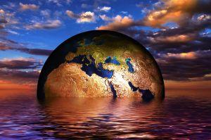 aarde die verdrinkt