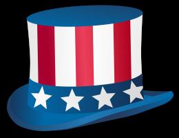 hoed gemaakt van de Amerikaanse vlag