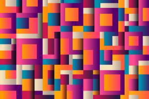 gekleurde vierkanten en recthoeken