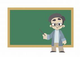 leraar voor een bord