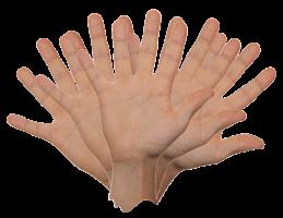 zwaaiende hand
