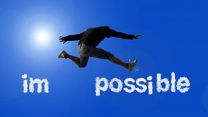 im-possible en man die springt