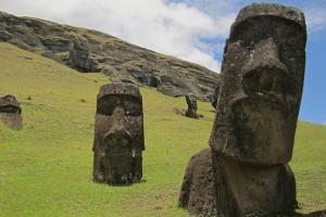 Moai standbeelden