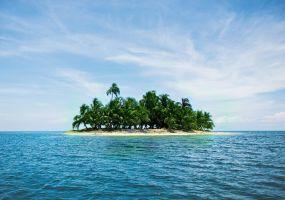 Foto van een klein eiland