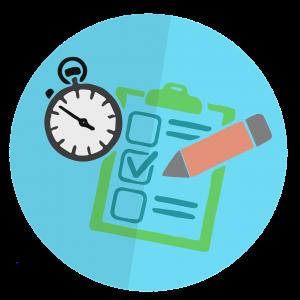 checklist met een klok