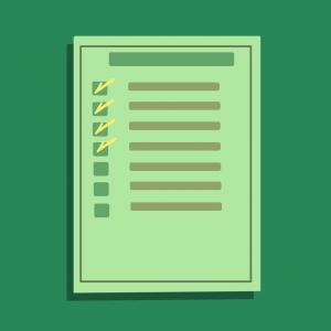 Een checklist