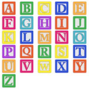 Blokjes met de letters van het alfabet.