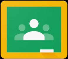 Tekening van schoolbord - logo Google Classroom