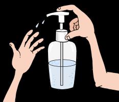 handen ontsmetten