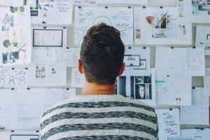 ondernemer voor ideeënbord