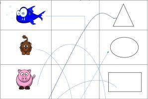 Een screenshot met enkele figuren, lijnen en vormen
